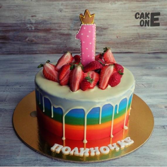 Торт-радуга на 1 год