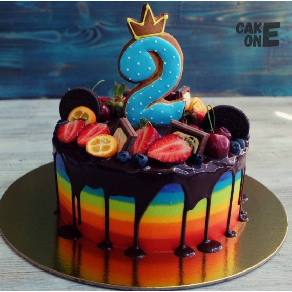 Торт-радуга на 2 года