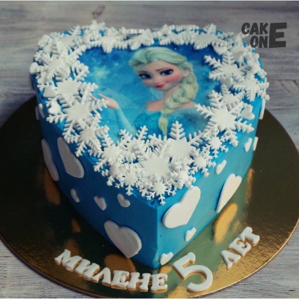 Фото-торт с Эльзой