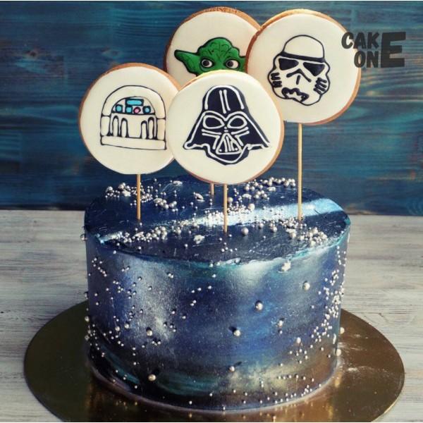 """Черный торт """"Звездные войны"""""""