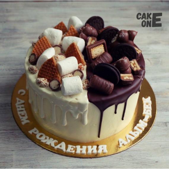 Торт с маршмеллоу и шоколадом