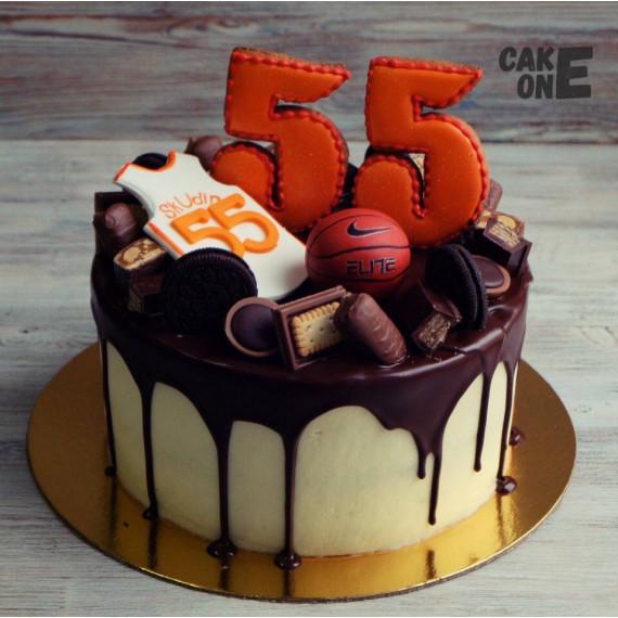 Торт на 55 лет для воллейболиста