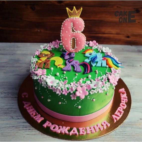 """Зеленый торт с """"Литл Пони"""""""