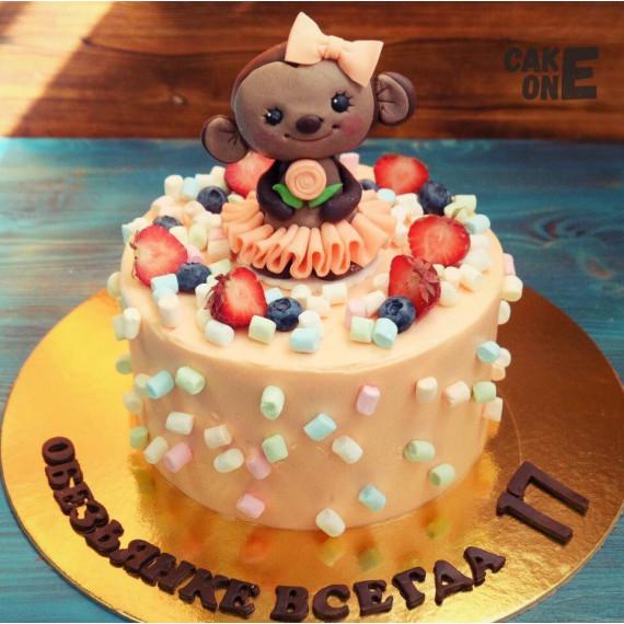 Торт с обезьянкой