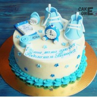 Торт-метрика с голубыми пинетками