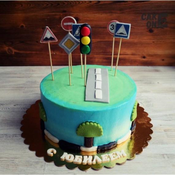 Торт с дорожными знаками