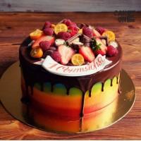 Торт-радуга на 1 сентября