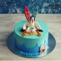 Торт-метрика с аистом и младенцем