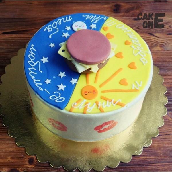 Двухцветный торт с солнышком