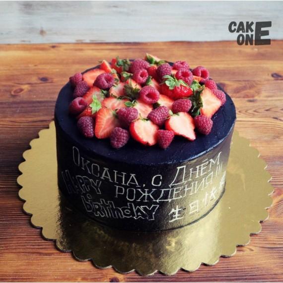 Черный торт с меловой доской