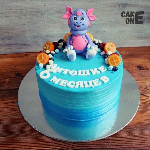 Голубой торт с Лунтиком