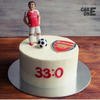 Торт с футболистом
