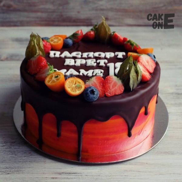 Торт с шутливой надписью
