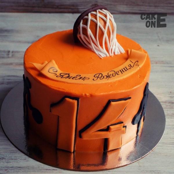 Оранжевый торт для баскетболиста
