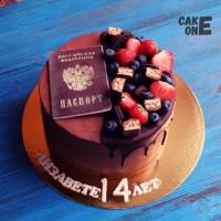 Шоколадный торт с паспортом