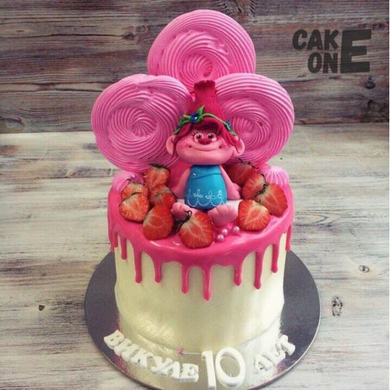 Торт с Принцессой розочкой