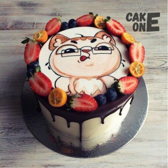 Торт с изображением кота